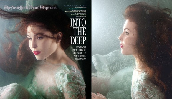 The two pictures of Noomi Rapace on The Newyork Times Magazine