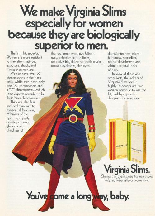Một poster quảng cáo tiêu biểu cho thông điệp phổ biến mà các quảng cáo lồng vào chiến dịch của mình