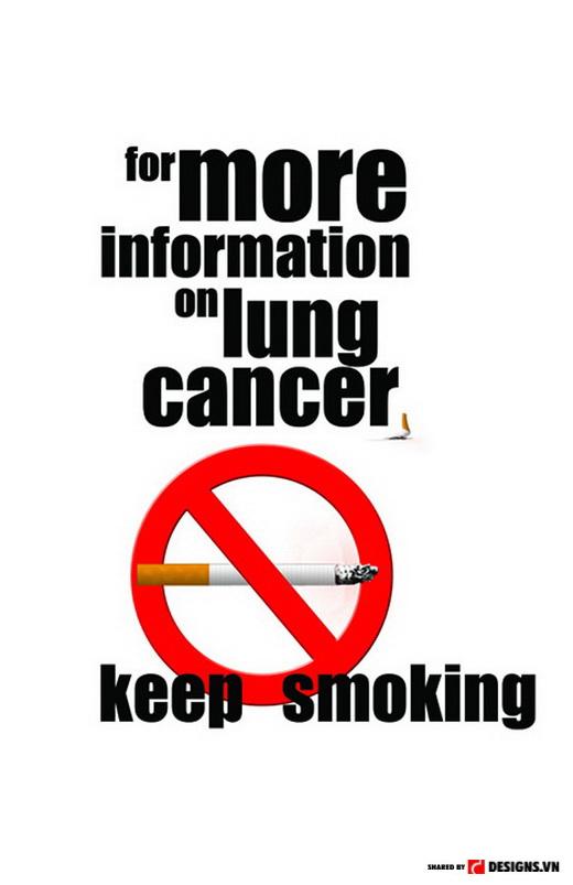 """""""Để biết thêm chi tiết về ung thư phổi, hãy tiếp tục hút thuốc lá"""""""